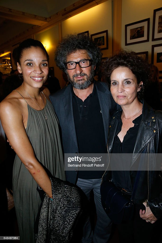 Actress of the Piece Stefi Celma, Director Radu Mihaileanu and guest attend 'Du vent dans les branches de Sassafras' Theater Play Live on France 2 TV Chanel. Held at Theatre Edouard VII on June 28, 2016 in Paris, France.