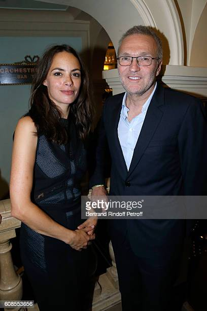 Actress of the play Berenice Bejo and Laurent Ruquier attend the 'Tout ce que vous voulez' Theater Play at Theatre Edouard VII on September 19 2016...