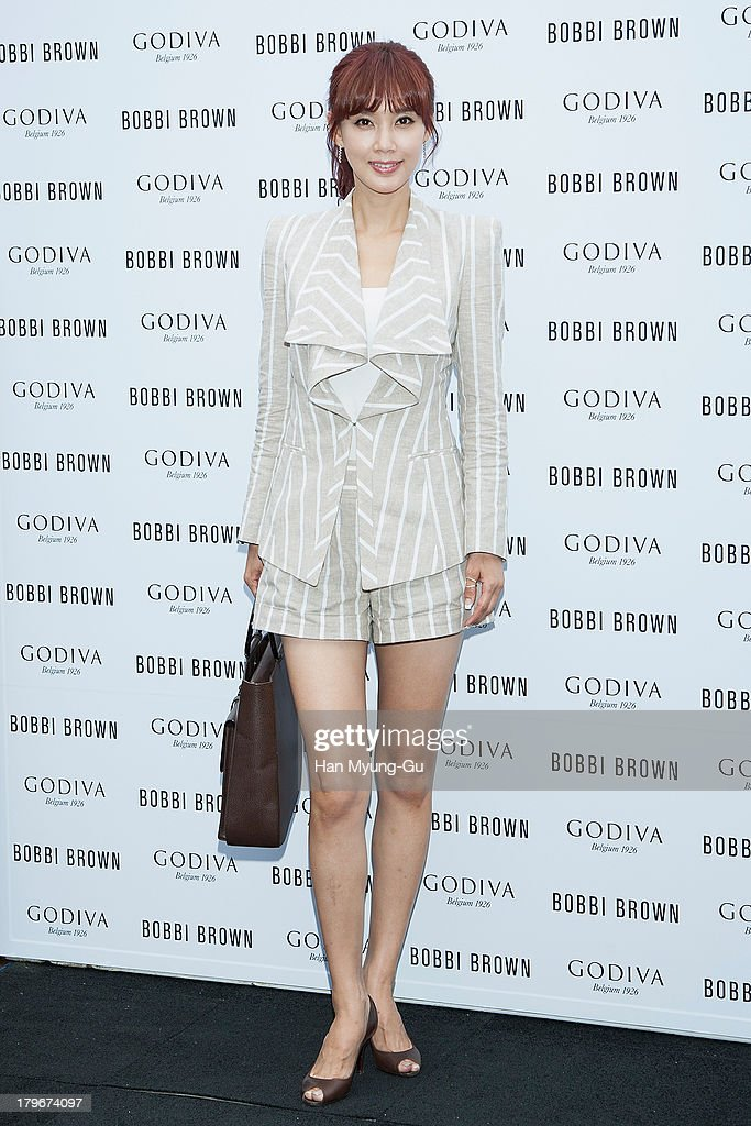 Actress Oh Hyun-Kyung attends during the Bobbi Brown 'Rich Chocolate Collection' Launching Party With Godiva at Godiva flagship store on September 6, 2013 in Seoul, South Korea.