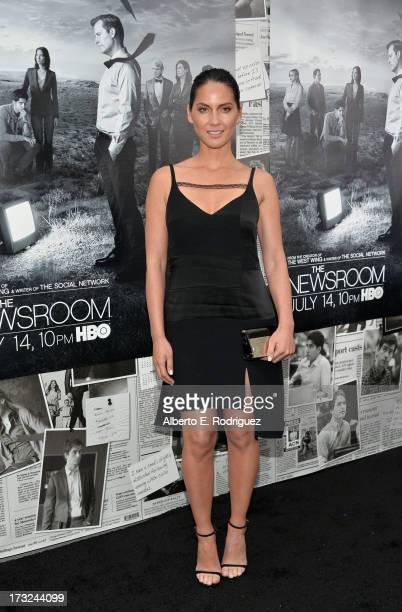 Actress Oivia Munn arrives for the premiere of HBO's 'The Newsroom' Season 2 at Paramount Theater on the Paramount Studios lot on July 10 2013 in...