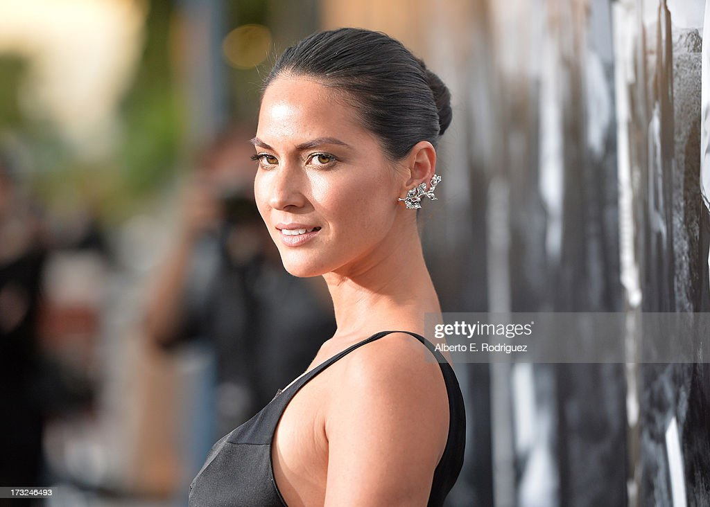 Actress Oivia Munn arrives for the premiere of HBO's 'The Newsroom' Season 2 at Paramount Theater on the Paramount Studios lot on July 10, 2013 in Hollywood, California.