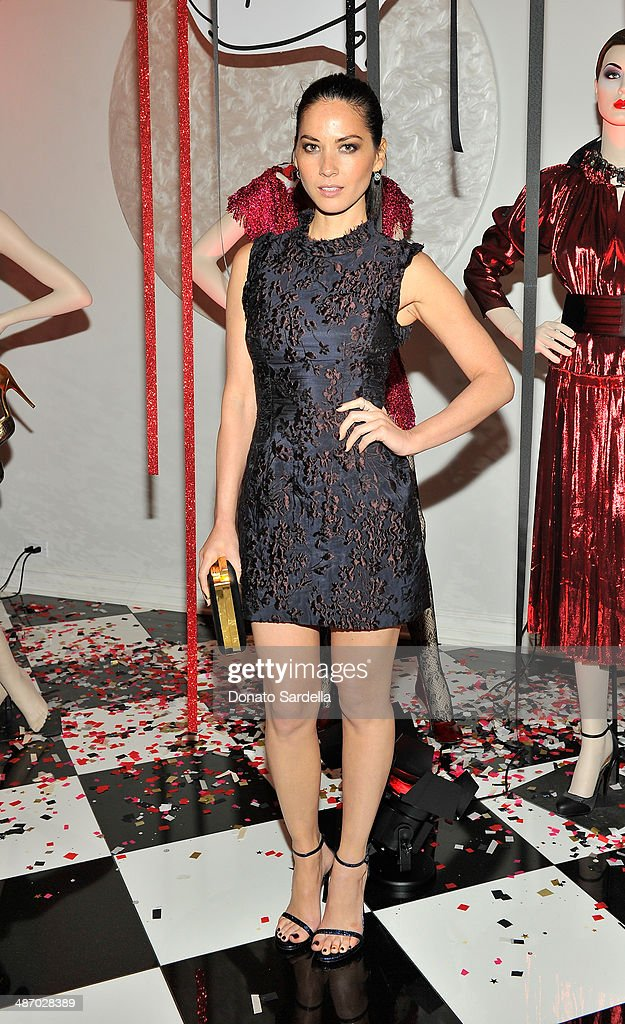 Actress Oivia Munn attends Lanvin And Living Beauty Host An Evening Of Fashion on April 26, 2014 in Beverly Hills, California.