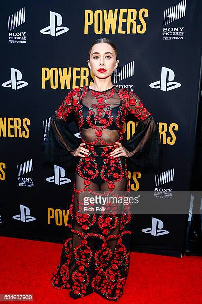 Actress Olesya Rulin arrives at the 'Powers' Premiere at ArcLight Cinemas on May 26 2016 in Culver City California