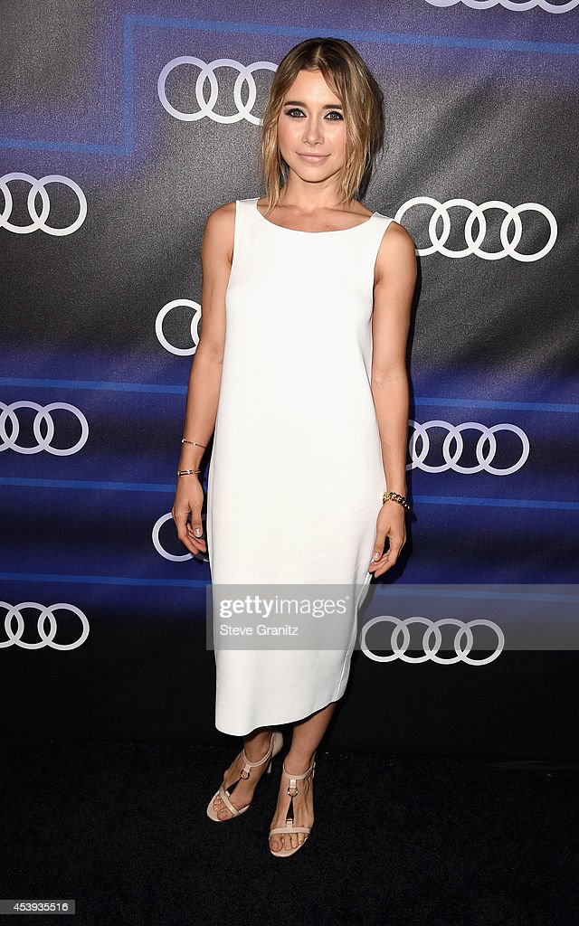 Actress <a gi-track='captionPersonalityLinkClicked' href=/galleries/search?phrase=Olesya+Rulin&family=editorial&specificpeople=4457251 ng-click='$event.stopPropagation()'>Olesya Rulin</a> attends Audi Emmy Week Celebration at Cecconi's Restaurant on August 21, 2014 in Los Angeles, California.