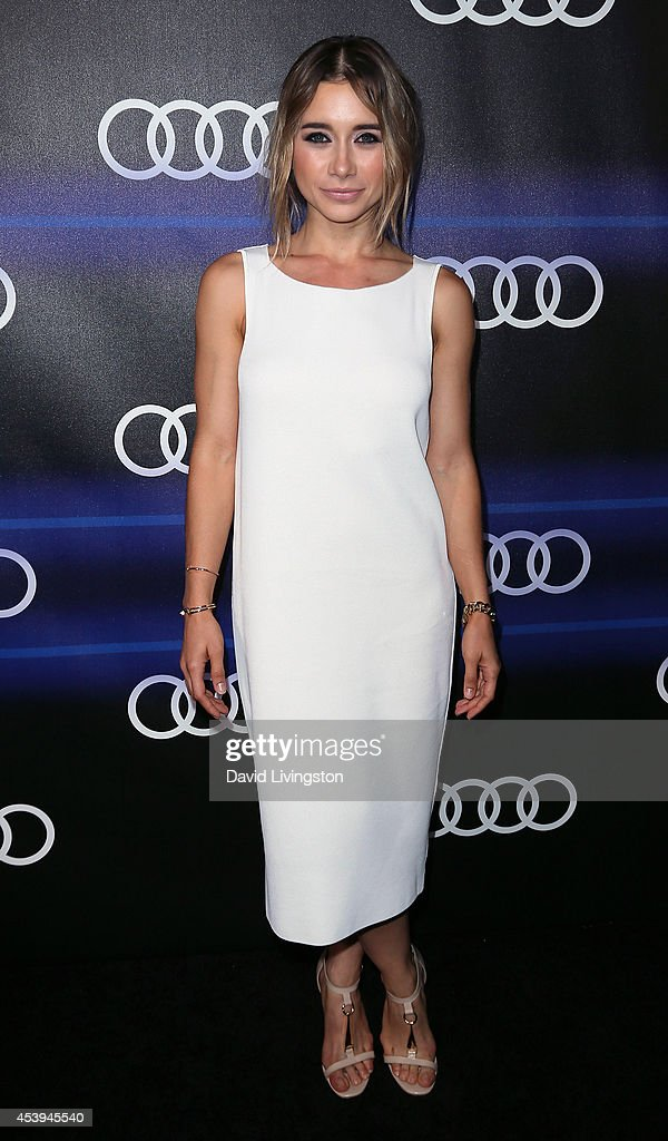 Actress <a gi-track='captionPersonalityLinkClicked' href=/galleries/search?phrase=Olesya+Rulin&family=editorial&specificpeople=4457251 ng-click='$event.stopPropagation()'>Olesya Rulin</a> attends the Audi celebration of Emmys Week 2014 at Cecconi's Restaurant on August 21, 2014 in Los Angeles, California.