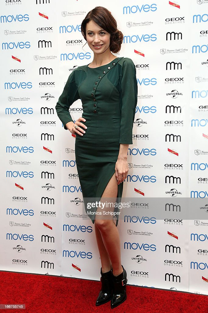 Actress Olga Kurylenco attends the 2013 Moves Magazine Spring Fashion Cover Party on April 15, 2013 in New York City.