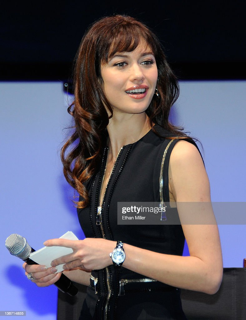 Actress Olga Kurylenko, a 'Bond Girl' from the James Bond movie, 'Quantum of Solace,' appears at the Panasonic booth as MGM Studios and Twentieth Century Fox Home Entertainment unveil 'Bond 50,' a box-set featuring all 22 James Bond films on Blu-ray Disc in celebration of the James Bond franchise's 50th anniversary at the 2012 International Consumer Electronics Show at the Las Vegas Convention Center January 10, 2012 in Las Vegas, Nevada. CES, the world's largest annual consumer technology trade show, runs through January 13 and is expected to feature 2,700 exhibitors showing off their latest products and services to about 140,000 attendees.