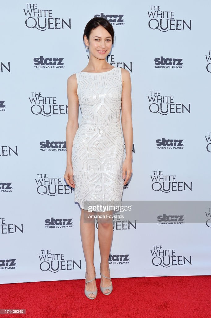 Actress Olga Kurylenko arrives at 'Cocktails with the Queen' - the British Consulate's toast to the U.S launch of the Starz original series 'The White Queen' at the British Consul General's Residence on July 25, 2013 in Los Angeles, California.