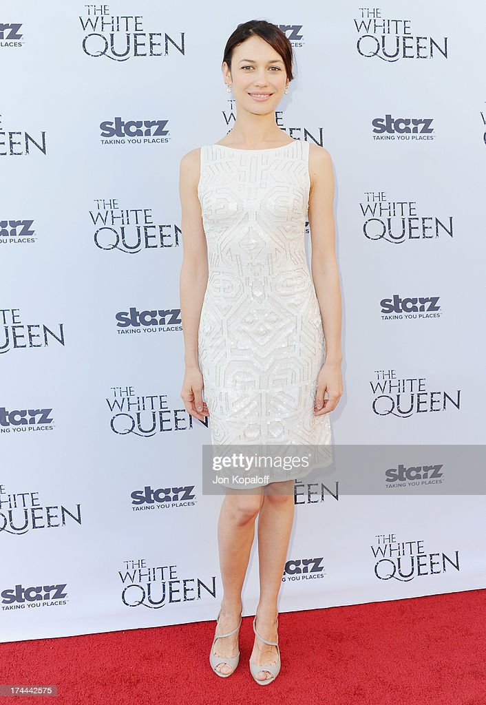 Actress Olga Kurylenko arrives at Cocktails With The Queen-The British Consulate Toasts The U.S. Launch Of The Starz Original Series 'The White Queen' at British Consul General's Residence on July 25, 2013 in Los Angeles, California.