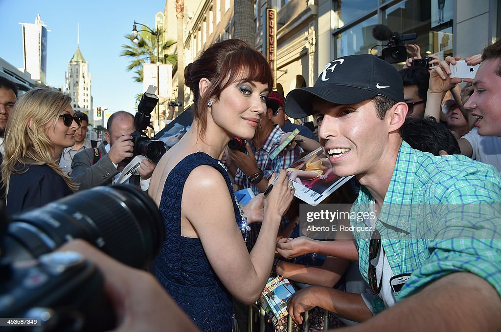 Actress Olga Kurylenko arrives to the World Premiere of Relativity Media's 'The November Man' at the TCL Chinese Theatre on August 13 2014 in...