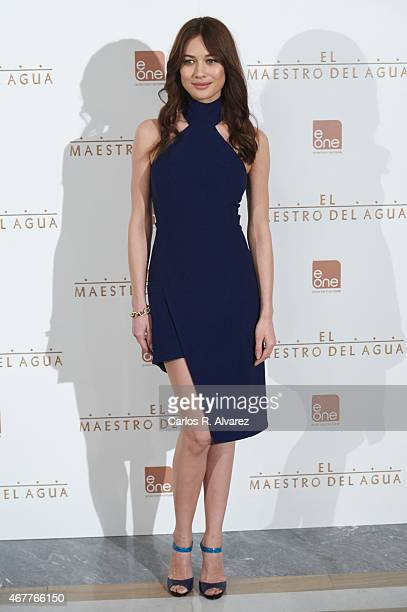 Actress Olga Kurylenko attends 'El Maestro del Agua' photocall at the Villamagna Hotel on March 27 2015 in Madrid Spain