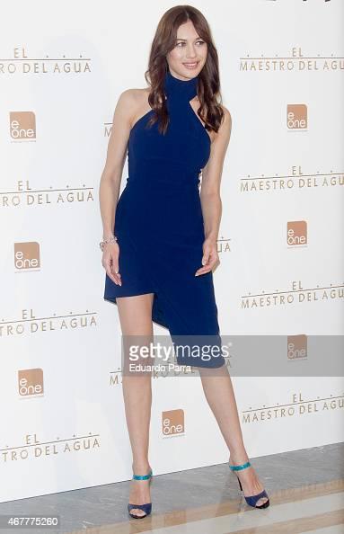Actress Olga Kurylenko attends 'El Maestro del Agua' photocall at the Villamagna Hotel on March 27 2015 in Madrid Spain