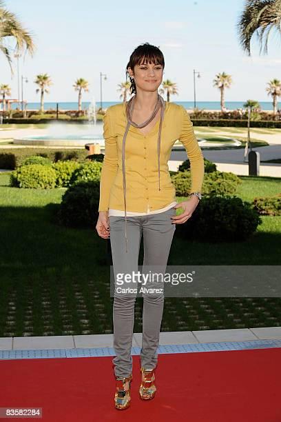 Actress Olga Kurylenko attends 'Quantum of Solace' photocall at Las Arenas Hotel on November 06 2008 in Valencia Spain