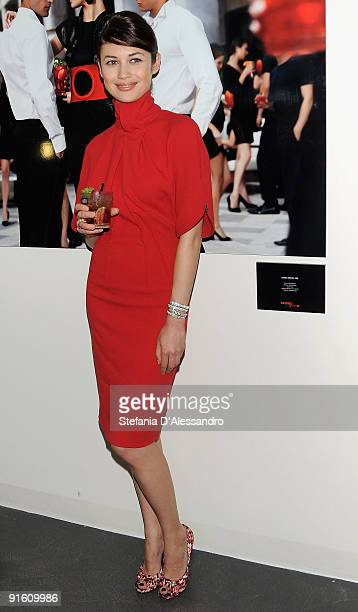 Actress Olga Kurylenko attends the 2010 Campari Calendar Cocktail Party on October 8 2009 in Milan Italy