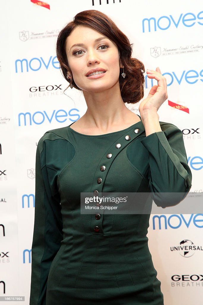 Actress Olga Kurylenko attends the 2013 Moves Magazine Spring Fashion Cover Party on April 15, 2013 in New York City.