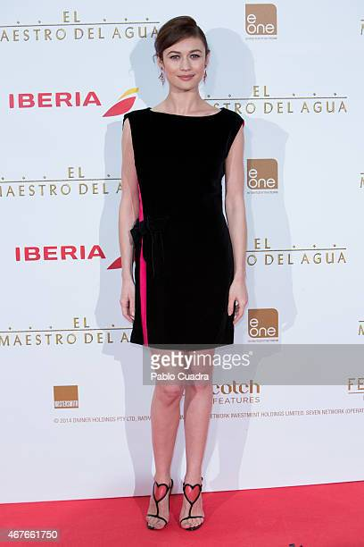 Actress Olga Kurylenko attends the 'El Maestro del Agua' premiere at the Callao cinema on March 26 2015 in Madrid Spain