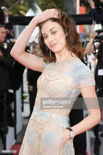 Actress Olga Kurylenko attends 'The Meyerowitz Stories' premiere during the 70th annual Cannes Film Festival at Palais des Festivals on May 21 2017...