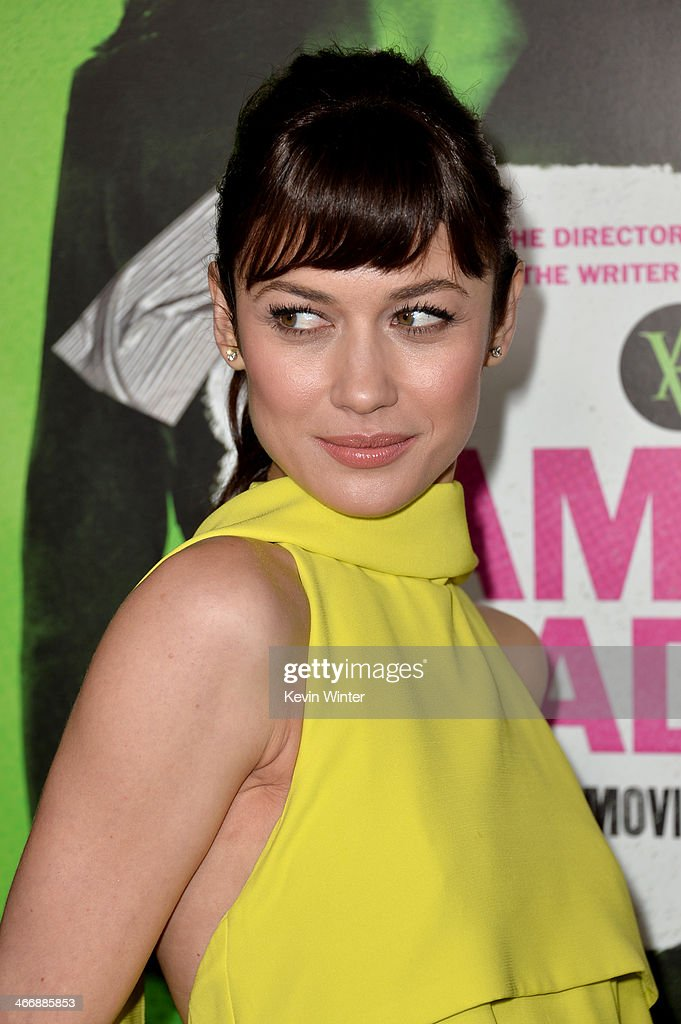 Actress Olga Kurylenko attends the premiere of The Weinstein Company's 'Vampire Academy' at Regal Cinemas L.A. Live on February 4, 2014 in Los Angeles, California.