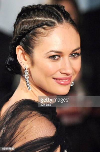 Actress Olga Kurylenko attends the 'Quantum of Solace' Japan Premiere at Roppongi Hills on November 25 2008 in Tokyo Japan The film will open on...