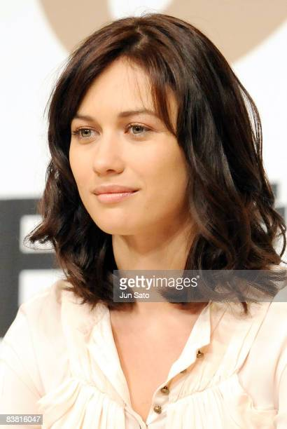 Actress Olga Kurylenko attends the 'Quantum of Solace' press conference at the Ritz Carlton Tokyo on November 25 2008 in Tokyo Japan The film will...