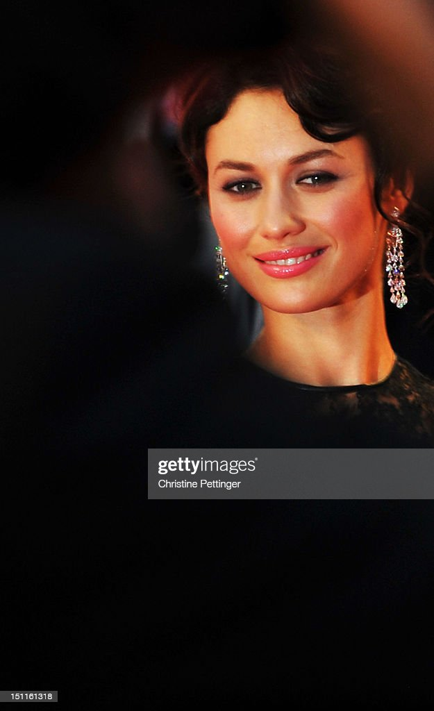 Actress Olga Kurylenko (jewellery detail) attends the 'To The Wonder' Premiere during the 69th Venice Film Festival at the Palazzo del Cinema on September 2, 2012 in Venice, Italy.