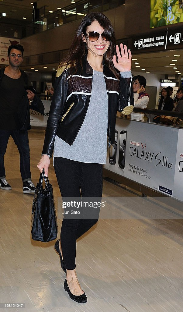 Actress Olga Kurylenko is seen upon arrival at Narita International Airport on May 6, 2013 in Narita, Japan.