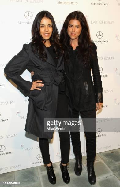 Actress Olga Segura and director Francesca Gregorini attend The Art of Elysium's 7th Annual HEAVEN Gala presented by MercedesBenz at Skirball...