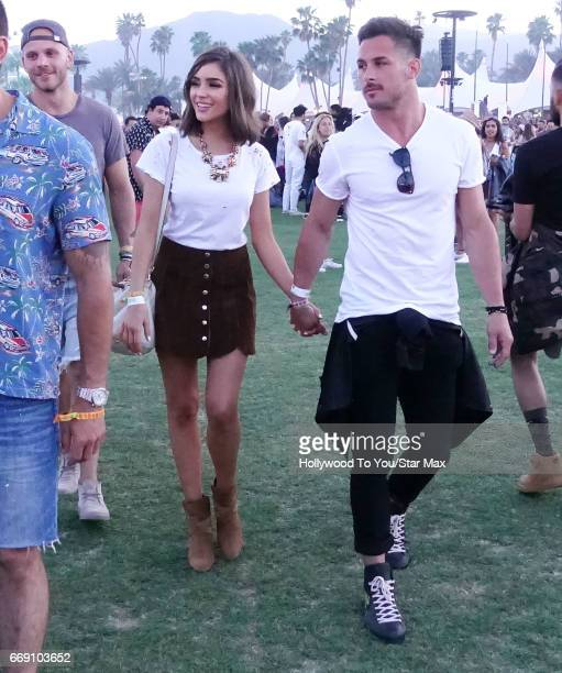 Actress Oliivia Culpo and Danny Amendola are seen at Coachella on April 15 2017 in Indio CA