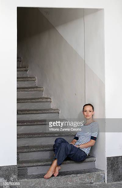 Actress Olimpia Melinte poses during Sette Opere di Misericordia Portrait Session at the 64th Festival del Film di Locarno on August 9 2011 in...