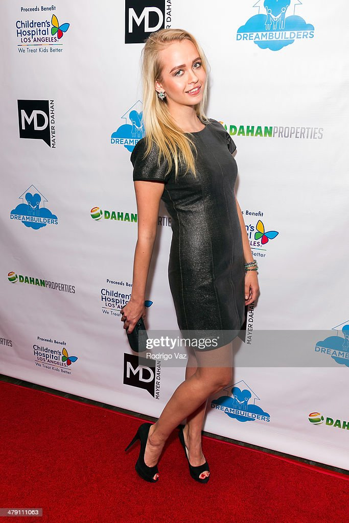 Actress Olive Allen attends The Dream Builders Project 'A Brighter Future For Children' at H.O.M.E. on March 15, 2014 in Beverly Hills, California.