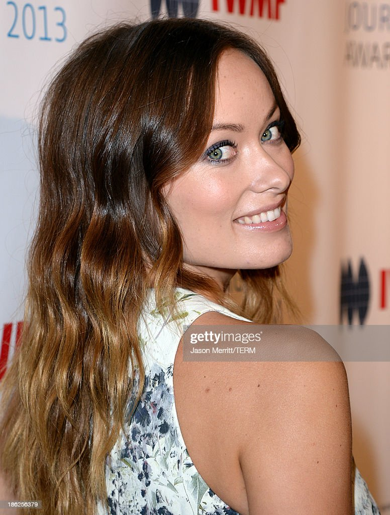 Actress Olivia attends the International Women's Media Foundation's 2013 Courage in Journalism Awards at the Beverly Hills Hotel on October 29, 2013 in Beverly Hills, California.