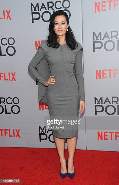 Actress Olivia Cheng attends the 'Marco Polo' New York Series Premiere at AMC Lincoln Square Theater on December 2 2014 in New York City