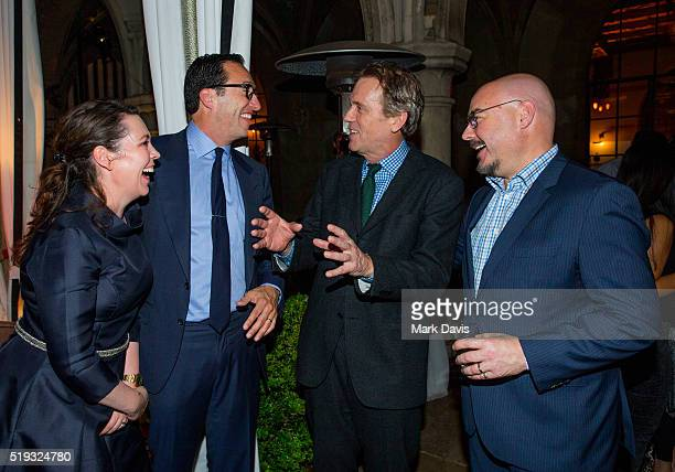 Actress Olivia Colman AMC President and General Manager Charlie Collier Actor Hugh Laurie and AMC's president of original programming Joel Stillerman...
