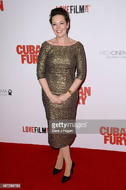 Actress Olivia Colman attends the World Premiere of 'Cuban Fury' at Vue Leicester Square on February 6 2014 in London England