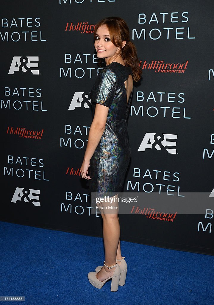 Actress Olivia Cooke attends A&E's 'Bates Motel' party during Comic-Con International 2013 at Gang Kitchen on July 20, 2013 in San Diego, California.