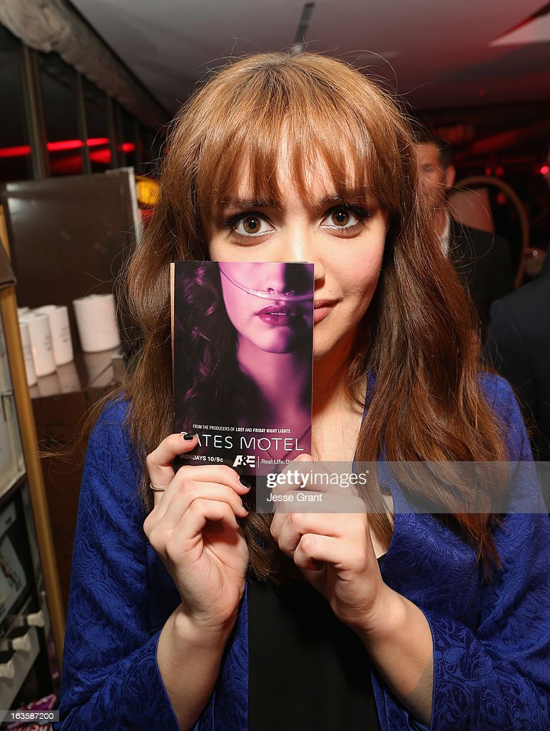 Actress Olivia Cooke attends A&E's 'Bates Motel' Premiere Party on March 12, 2013 in West Hollywood, California.