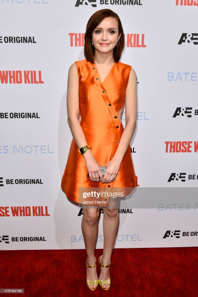 Actress <a gi-track='captionPersonalityLinkClicked' href=/galleries/search?phrase=Olivia+Cooke&family=editorial&specificpeople=10104216 ng-click='$event.stopPropagation()'>Olivia Cooke</a> attends the premiere party for A&E's Season 2 Of 'Bates Motel' & series premiere of 'Those Who Kill' at Warwick on February 26, 2014 in Hollywood, California.