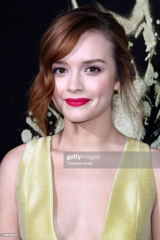 Actress <a gi-track='captionPersonalityLinkClicked' href=/galleries/search?phrase=Olivia+Cooke&family=editorial&specificpeople=10104216 ng-click='$event.stopPropagation()'>Olivia Cooke</a> attends the 'The Quiet Ones' Los Angeles premiere held at The Theatre At Ace Hotel on April 22, 2014 in Los Angeles, California.