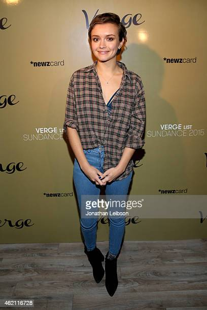 Actress Olivia Cooke attends the Verge Sundance 2015 Party at WireImage Studio on January 24 2015 in Park City Utah