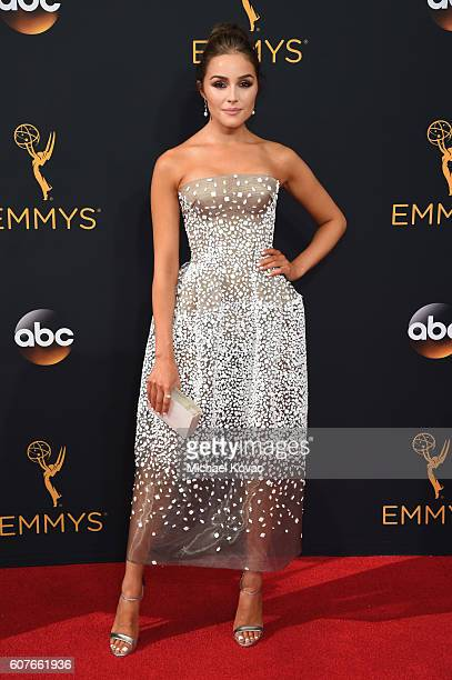 Actress Olivia Culpo attends 68th Annual Primetime Emmy Awards at Microsoft Theater on September 18 2016 in Los Angeles California