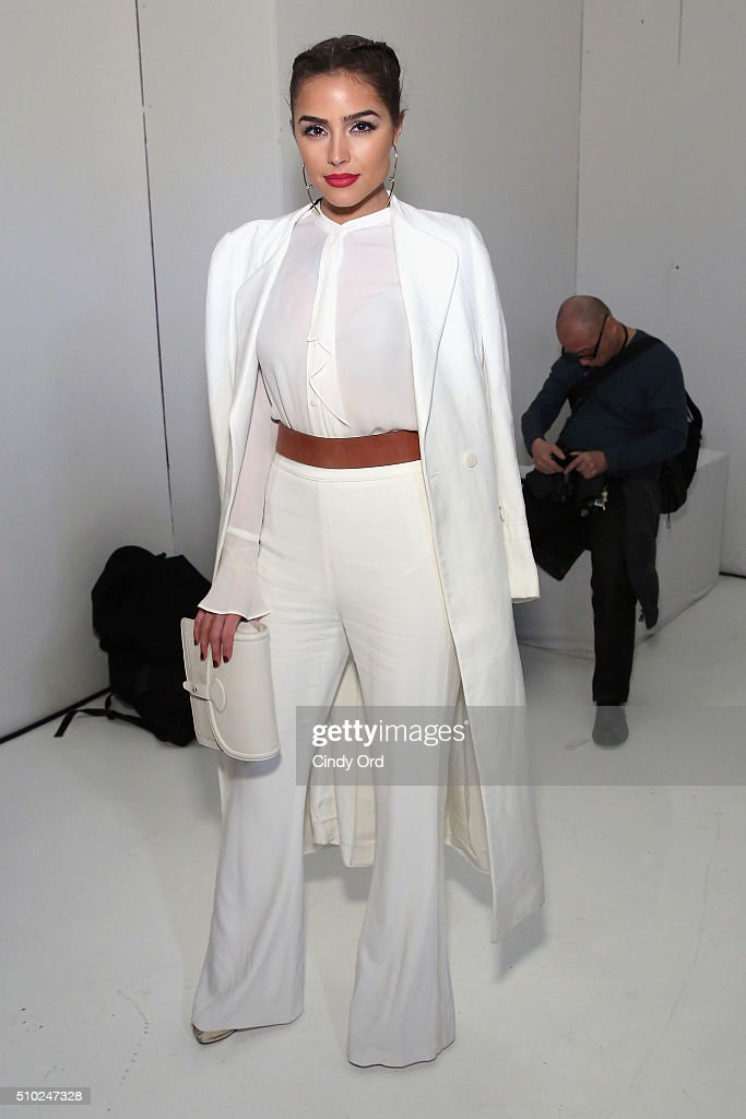 Actress <a gi-track='captionPersonalityLinkClicked' href=/galleries/search?phrase=Olivia+Culpo&family=editorial&specificpeople=9194131 ng-click='$event.stopPropagation()'>Olivia Culpo</a> attends Rachel Zoe Fall 2016 during New York Fashion Week: The Shows at The Space, Skylight at Clarkson Sq on February 14, 2016 in New York City.