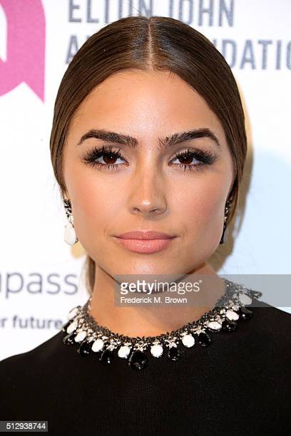 Actress Olivia Culpo attends the 24th Annual Elton John AIDS Foundation's Oscar Viewing Party on February 28 2016 in West Hollywood California