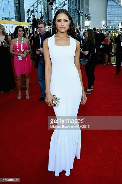 Actress Olivia Culpo attends the 50th Academy Of Country Music Awards at ATT Stadium on April 19 2015 in Arlington Texas
