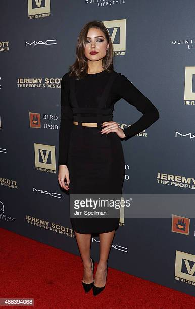 Actress Olivia Culpo attends the 'Jeremy Scott The People's Designer' New York premiere at The Paris Theatre on September 15 2015 in New York City