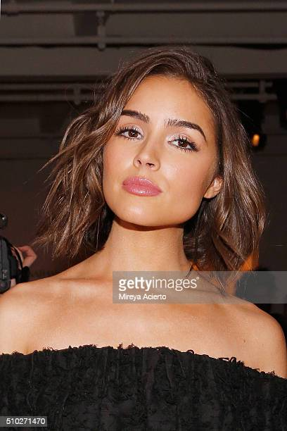 Actress Olivia Culpo attends the Jonathan Simkhai fashion show during Fall 2016 MADE Fashion Week at Milk Studios on February 14 2016 in New York City