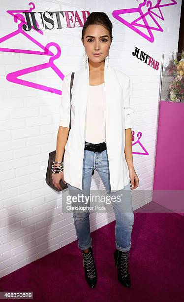 Actress Olivia Culpo attends the JustFab Launch of ReadyToWear at Sunset Tower on April 1 2015 in West Hollywood California