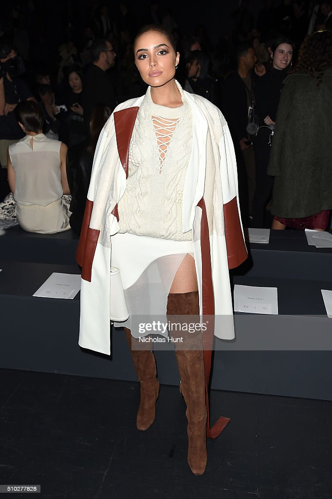 Actress <a gi-track='captionPersonalityLinkClicked' href=/galleries/search?phrase=Olivia+Culpo&family=editorial&specificpeople=9194131 ng-click='$event.stopPropagation()'>Olivia Culpo</a> attends the Prabal Gurung Fall 2016 fashion show during New York Fashion Week: The Shows at The Arc, Skylight at Moynihan Station on February 14, 2016 in New York City.