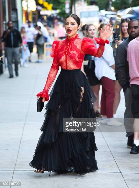 Actress Olivia Culpo is seen in walking in Soho on June 20 2017 in New York City