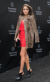 Actress Olivia Culpo is seen leaving the BCBGMAXAZRIA fashion show during MercedesBenz Fashion Week Fall 2015 at Lincoln Center on February 12 2015...