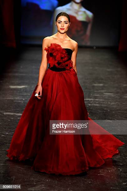 Actress Olivia Culpo walks the runway at The American Heart Association's Go Red For Women Red Dress Collection 2016 Presented By Macy's at The Arc...